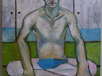 裸の男 油彩画 キャンバスの画像