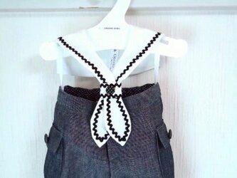 ダッフィーお洋服 セラー飾り衿(白)の画像