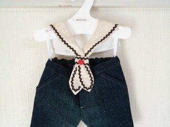 ダッフィーお洋服 セラー飾り衿(ベージュ)の画像