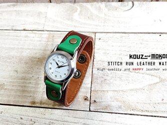 STITCH RUN LEATHER WATCH ⌚ 腕時計 // 受注生産の画像