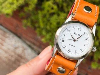 【送料無料】毎日つけていたくなる時計「ステッチラン 腕時計」受注生産(SRW-CRC-WS)Ⅱの画像