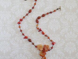 赤いネックレスn-2408Nice-n8 の画像