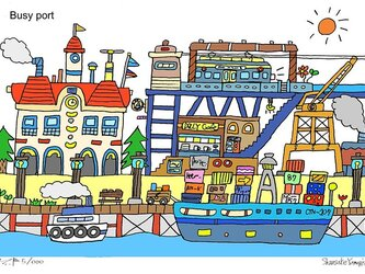 Busy port (A4 size)の画像