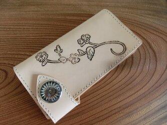 牛ヌメ革 長財布の画像