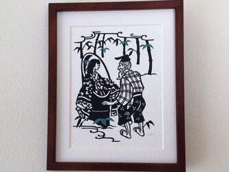 童話切り絵「かぐや姫」の画像