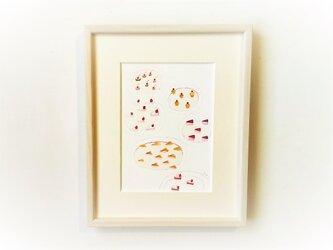 「ビュッフェ」イラスト原画 ※木製額縁入りの画像