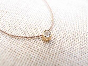 【再販】k14gf.ホワイトトパーズの一粒ネックレスの画像