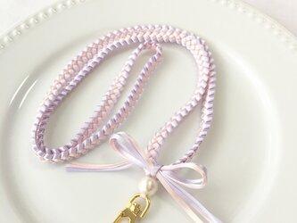 プリンセスカラー♡リボンレイのネックストラップ(ラプンツェル)の画像