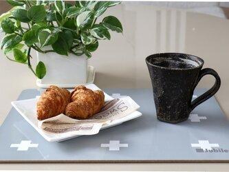 コルクランチョンマット 2枚組 グレークロス 北欧柄 34cm×25cm jubileeteatowelcpm015の画像