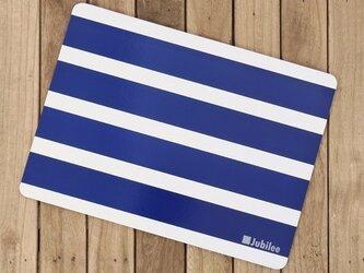 コルクランチョンマット 2枚セット ホワイトボーダーオンネイビー 北欧 jubileeteatowelcpm011の画像