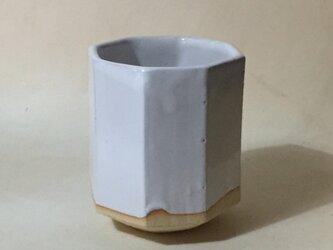 T029 白釉八角湯呑の画像