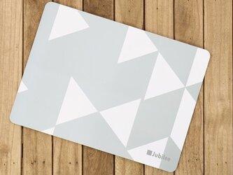 コルクランチョンマット 2枚組 グレーダイヤモンド 北欧柄 34×25cm jubileeteatowelcpm004の画像