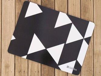 コルクランチョンマット 2枚組 ブラックダイヤモンド 北欧柄 34×25cm jubileeteatowelcpm003の画像