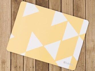 コルクマット 2枚組イエローダイヤモンド 北欧デザイン 34×25cm jubileeteatowelcpm001の画像