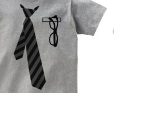 レジメンタルネクタイ×メガネ 150.160.S〜XL Tシャツ【受注生産品】の画像