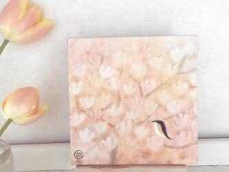 18×18cmパネル・ハクモクレンの画像