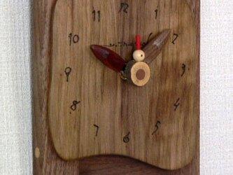 素朴な時計 *ウオールナットの画像