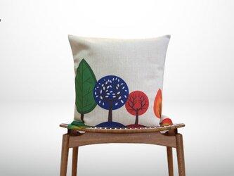 森のクッション Colorful trees ヒノキの香りの画像