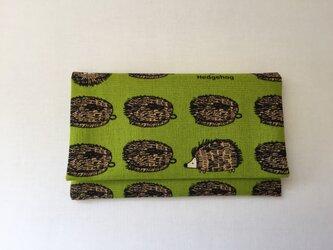懐紙、通帳いれ Harinezumi greenの画像