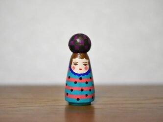 球体者(むらさき黒市松)の画像