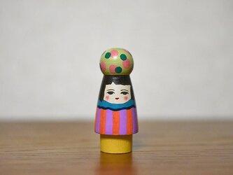 球体者(みどりピンク水玉)の画像