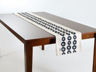 テーブルランナー 北欧柄 ブラックコネクト 天然リネン 183×30cm jubileetabletr045ymの画像