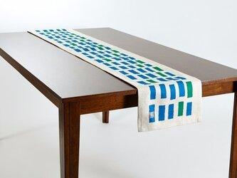 テーブルランナー 北欧柄 ノースフォレスト 天然リネン 183×30cm jubileetabletr043ymの画像