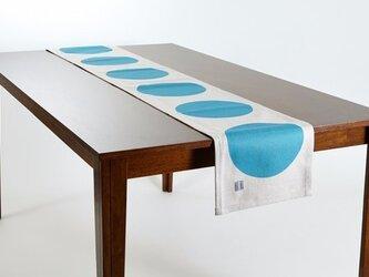 テーブルランナー 北欧柄 ウォータードロップ 天然リネン 183×30cm jubileetabletr042ymの画像