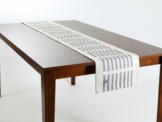 テーブルランナー 北欧柄 グレーウインド 天然リネン 183×30cm jubileetabletr040ymの画像