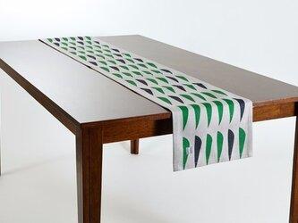 テーブルランナー 北欧柄 パインニードル 天然リネン 183×30cm jubileetabletr038ymの画像