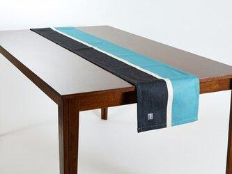 テーブルランナー 北欧柄 ホライゾン 天然リネン 183×30cm jubileetabletr037ymの画像