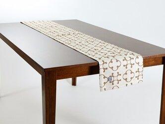 テーブルランナー 北欧柄 ビンテージクローバー 天然リネン 183×30cm jubileetabletr036ymの画像
