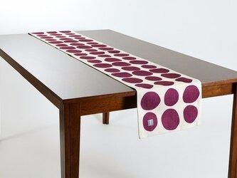 テーブルランナー 北欧柄 ストーンドット 天然リネン 183×30cm jubileetabletr035ymの画像