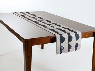 テーブルランナー 北欧柄 クラウドライン 天然リネン 183×30cm jubileetabletr033ymの画像