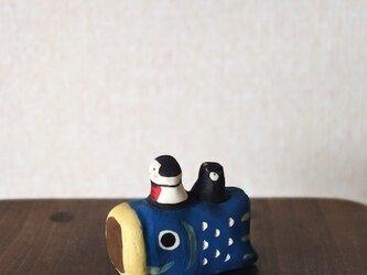 ミニこいのぼり青の画像