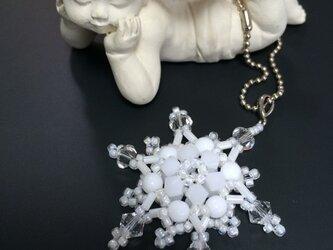 #7 雪の結晶 ビーズアクセサリーの画像