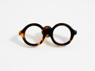 メガネラぺルピン(丸メガネ、Mサイズ、長針、ブラウン2)の画像