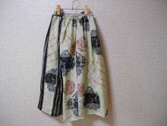 アンティーク銘仙のリメイクスカートの画像