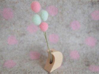 noco-moco バルーンブーケ【 はるいろ パステルピンク × グリーン 】の画像