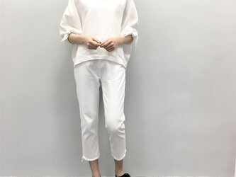en-enフランスリネン・抜襟・袖リボン・オフホワイト(特集掲載の商品)の画像