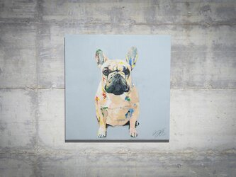 French bulldog / フレンチブルドックのスプレーアート作品。の画像