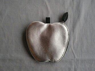 リンゴのコインケース(Silver)の画像