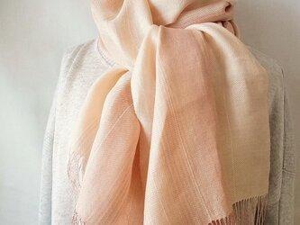 手織ストール*うすずみ桜の画像