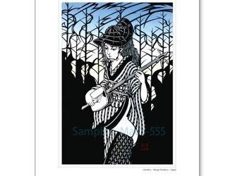 A4アートポスター・切り絵シリーズ「踊り子」の画像