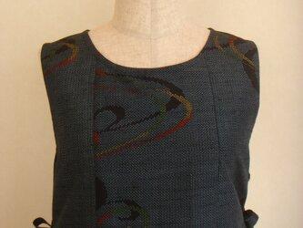 古布 柄物紬ジャンパースカート(総裏付)の画像