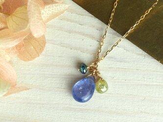 K10ネックレス タンザナイトとナチュラルダイヤの画像