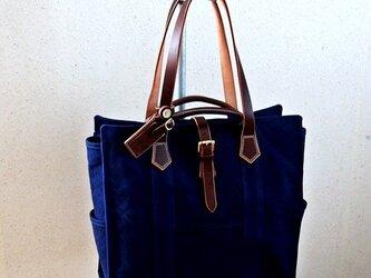HAGIO mens canvas tote メンズハンプトート(紺)の画像