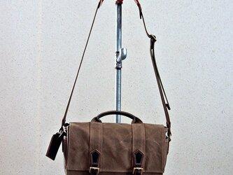 HAGIO mens canvas shoulder メンズハンプショルダー(ベージュ)の画像