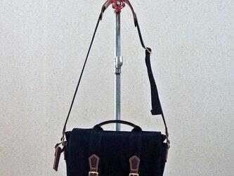 HAGIO mens canvas shoulder メンズハンプショルダー(黒)の画像