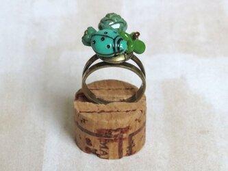緑の指輪(てんとう虫)の画像